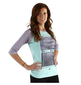 Belong Designs Belong- Raglan- Inspire- Teal- Women's T-Shirt