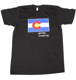 Aksels Aksels- Colorado Grown Locally- Colorado Flag- T-Shirt