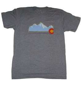 Aksels Aksels- Colorado Mountain- T-Shirt- Heather Grey