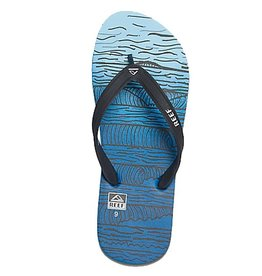 Reef Reef- Switchfoot Prints- Men's Flip Flop- Grey and Blue