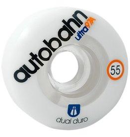 Autobahn Autobahn- Dual Duro Ultra- 55mm- 97a- Wht/Clr- Wheels