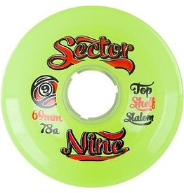 Sector 9 Sector 9- 9 Balls- 69mm- 78a- Clear Lime- Wheels