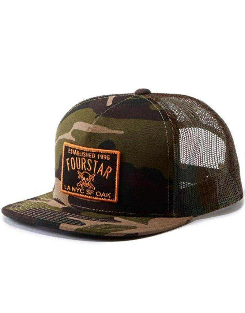 Fourstar Fourstar- Classic Trucker Patch- Camo- Hats