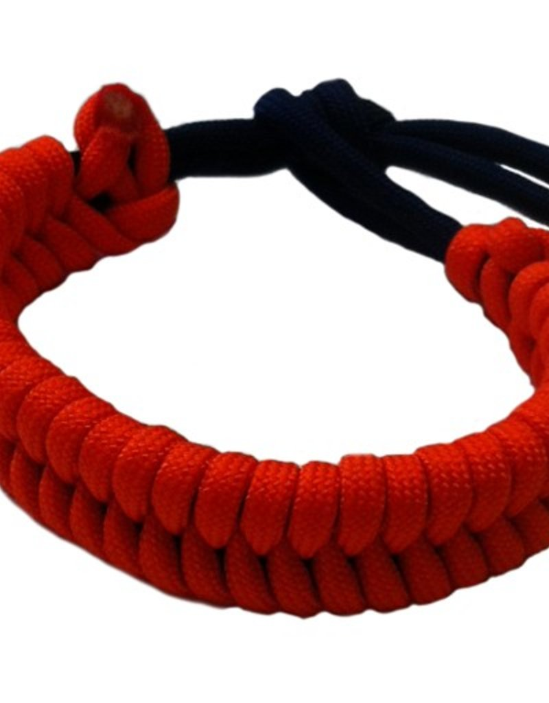 Olguin Designs- Paracord Bracelet- Orange & Blue- OSFA