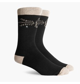 Richer Poorer Richer Poorer- Caruso SS Athletic Crew- Black- Socks