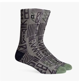 Richer Poorer Richer Poorer-Cipher Athletic- Grey/Green-Socks