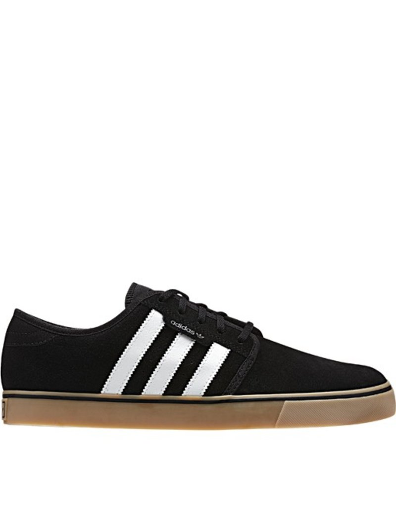 adidas adidas- Seeley- Canvas- Black and White- Gum Sole- Men's- Skate Shoe
