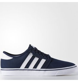adidas adidas- Seeley- Canvas- Collegiate Navy and White- Men's- Skate Shoe