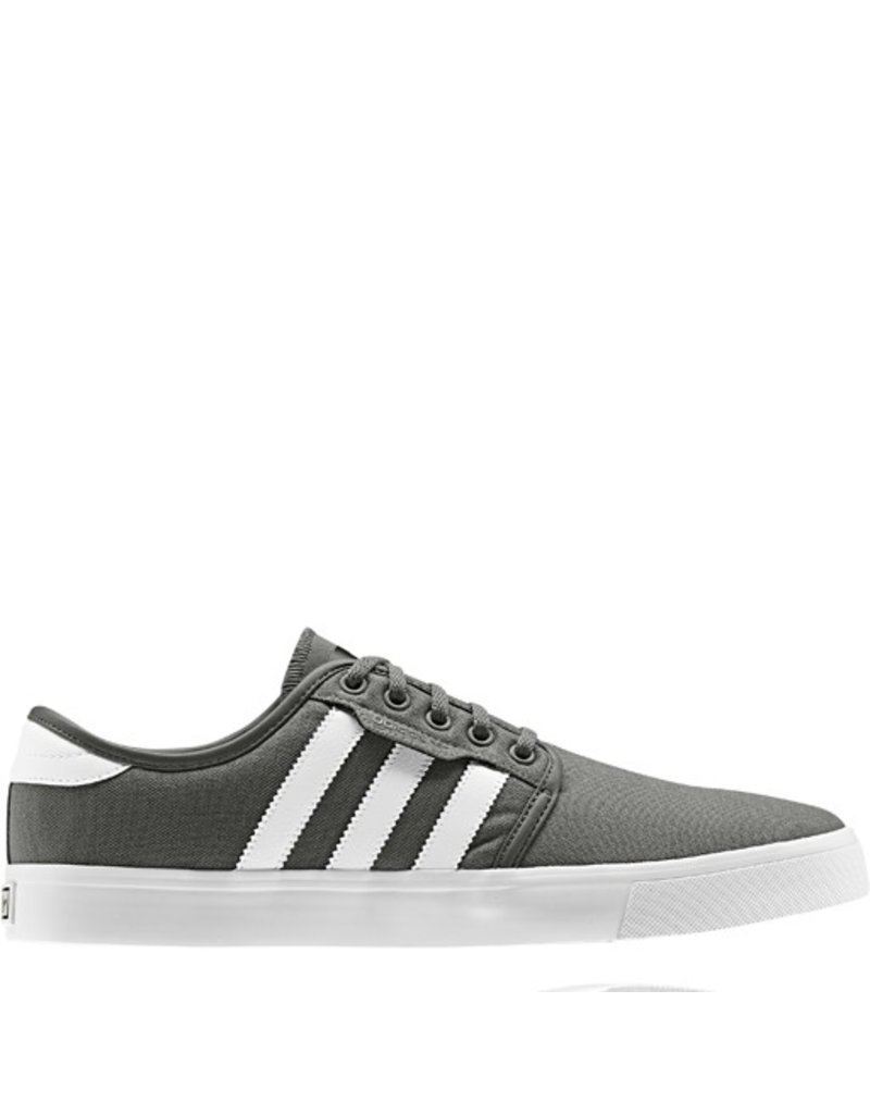 adidas adidas- Seeley- Canvas- Grey and White- Men's- Skate Shoe