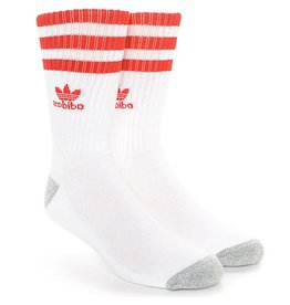 adidas Adidas- Stripes- White/Red- Men's- Socks