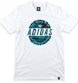 adidas adidas- Scratched Stamp- White- Men's- T-shirt