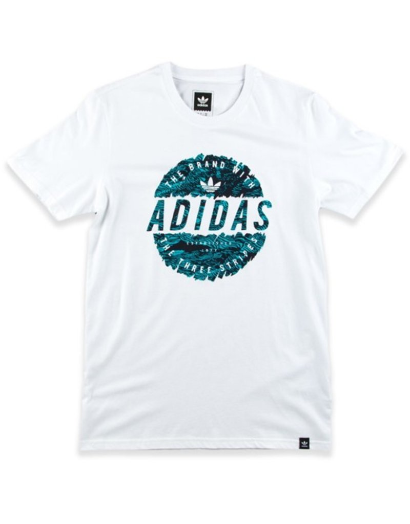 adidas adidas- Scratched Stamp- White- Men's- T-shirt