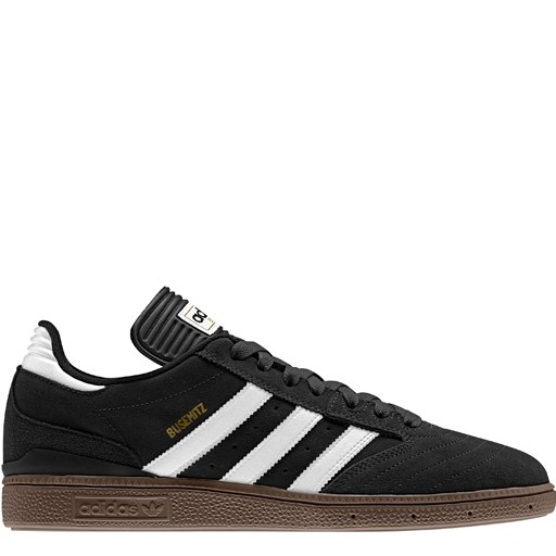 adidas adidas- Busenitz- Suede- Black and White- Gum Sole- Men's- Skate Shoe