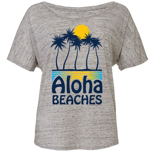 Ames Bros Ames Bros- Aloha- Flowy Simple- Athletic Heather- Women's T-Shirt