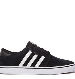 adidas adidas- Seeley- Suede- Black and White- Men's- Skate Shoe