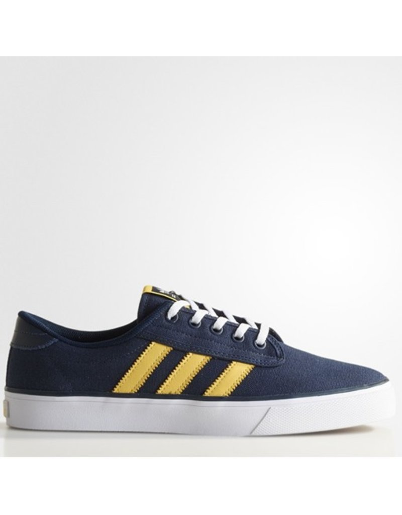 adidas adidas- Kiel- Canvas- Collegiate Navy and Spryel- Men's- Skate Shoe