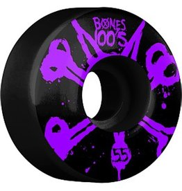 Bones Bones- Original Formula- 55mm- 100a- Black with Purple- Wheels