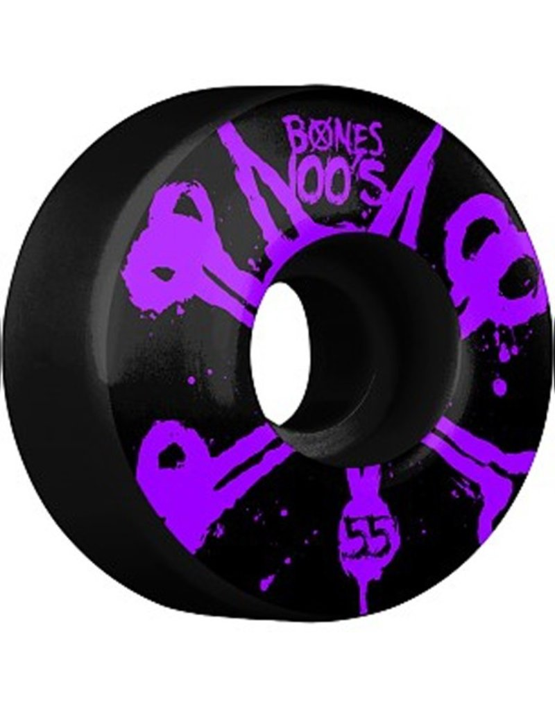 Bones Bones- Original Formula- 55mm- 100a- Black with Purple- Wheels