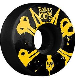 Bones Bones- Original Formula- 54mm- 100a- Black with Yellow- Wheels