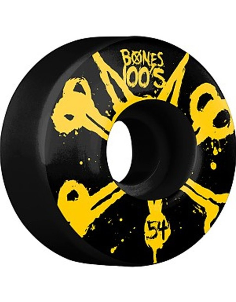 Bones Bones- Original Formula- 54mm- 100a- Black with Yellow- Wheels