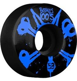 Bones Bones- Original Formula- 53mm- 100a- Black with Blue- Wheels