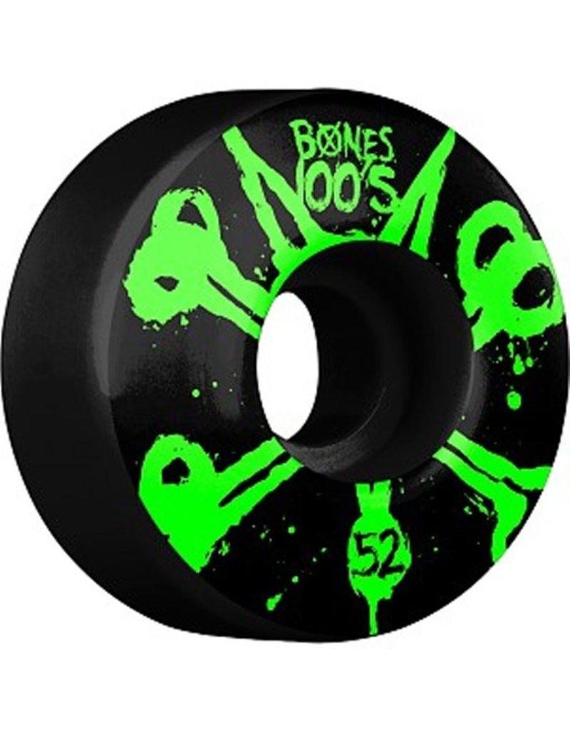 Bones Bones- Original Formula- 52mm- 100a- Black with Green- Wheels