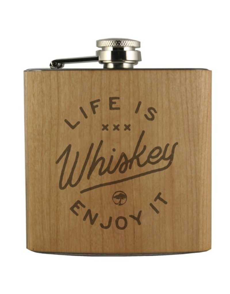 Arbor Arbor- Flask- Life is Whiskey- Cherry