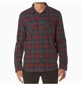 Reef Reef- Shirt- Flannel- Cold Dip- Navy- Red