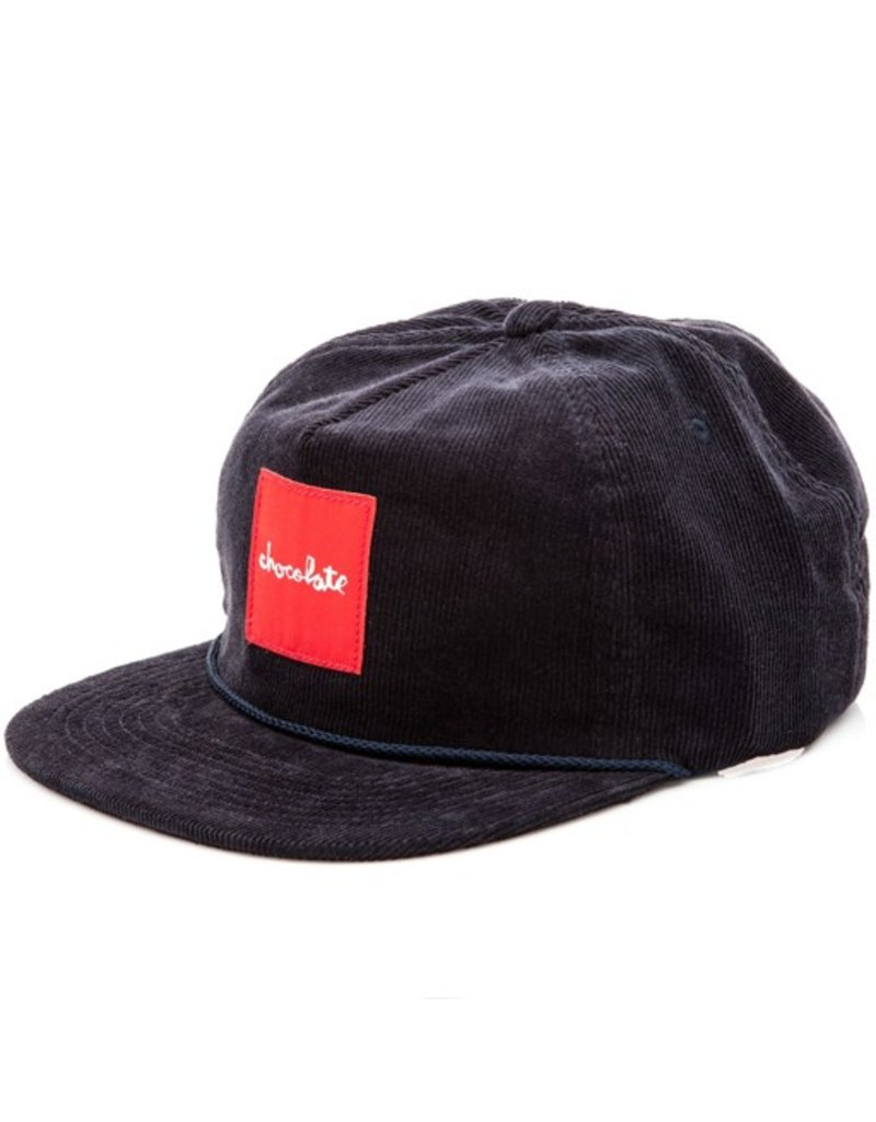 Chocolate Chocolate- Red Square- Corduroy- Hat- Navy
