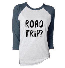 Savidge Savidge- Road Trip- White/Navy- Womens- T-Shirt