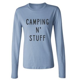 Savidge Savidge- Camping N' Stuff- Long Sleeve- Blue- Womens- T-Shirt