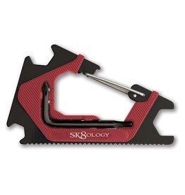 Sk8ology Sk8ology- Carabiner- Blk/Red- Skate Tools