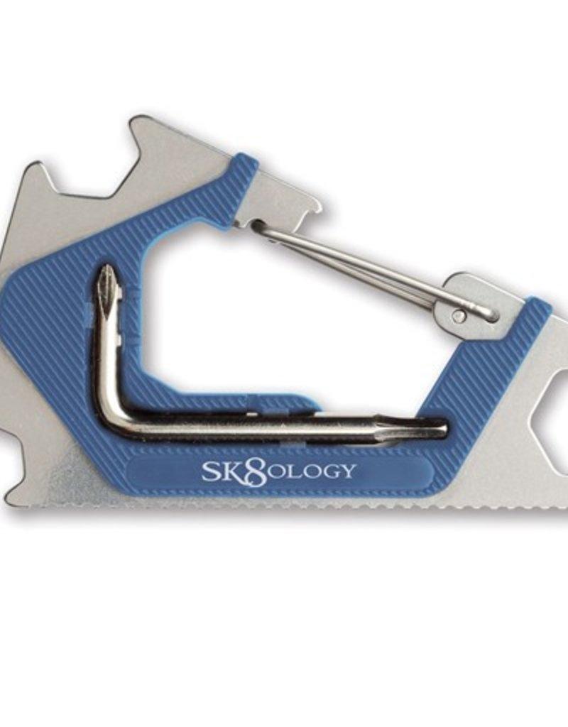 Sk8ology Sk8ology- Carabiner- Blue/Raw- Skate Tools