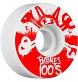 Bones Bones- Original Formula- 51mm- 100a- White with Red- Wheels