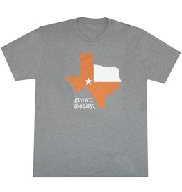 Aksels Aksels- Texas Grown Locally- Burnt Orange- Grey- T-Shirt