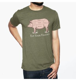 Headline Headline- Eat Your Veggies- Olive- T-Shirts