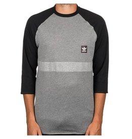 adidas adidas- Aeroknit Raglan- Coreheath and Black- Men's- T-Shirt