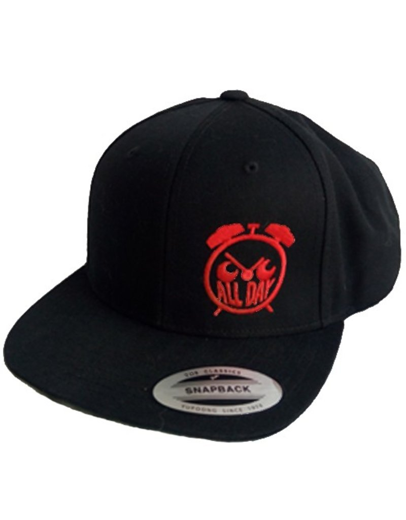 All Day Allday- Logo Snapback- Red- Hats