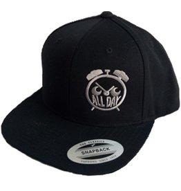 All Day Allday- Logo Snapback- Grey- Hats