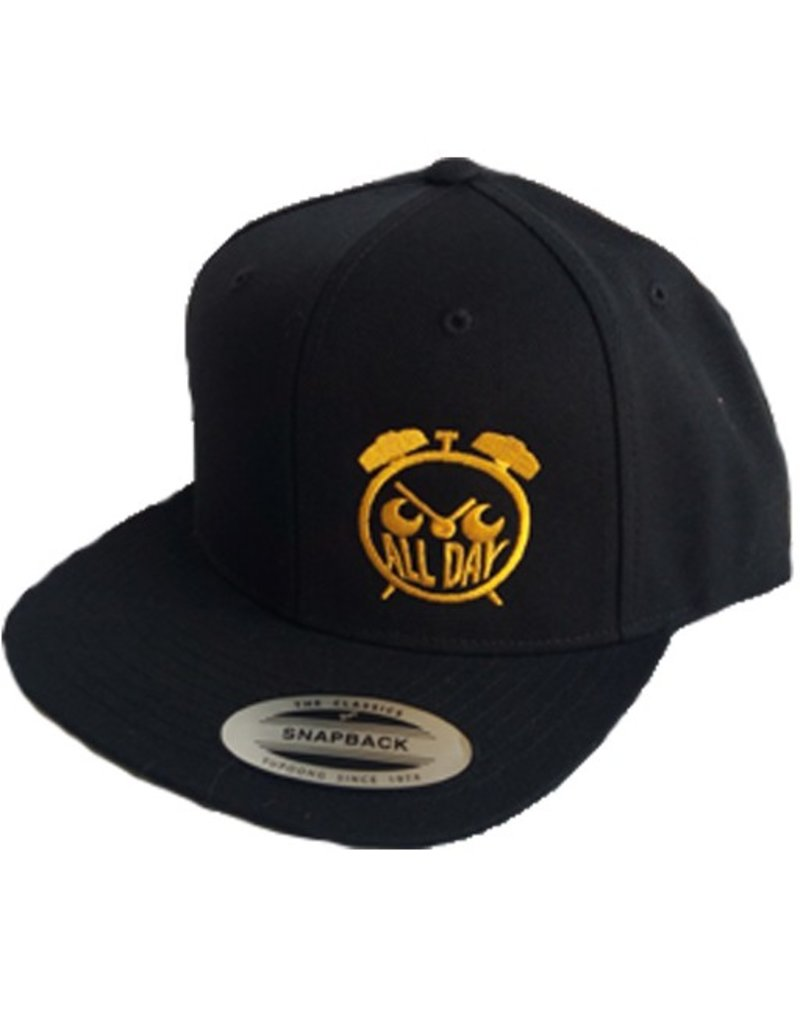 All Day Allday- Logo Snapback- Gold- Hats