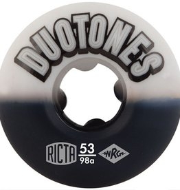 Ricta Ricta- Duo Tones- 53mm- 98a- White/Black- Wheels
