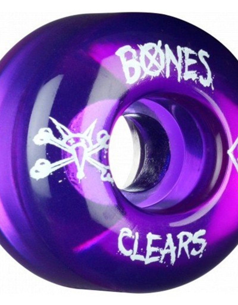 Bones Bones- Skatepark Formula- 56mm- Clear Purple- Wheels