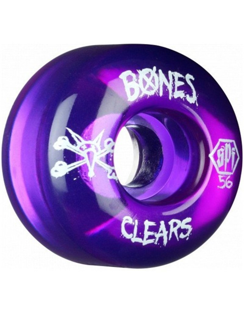 Bones Bones- Skatepark Formula- 56mm- Clear Purple- Wheels