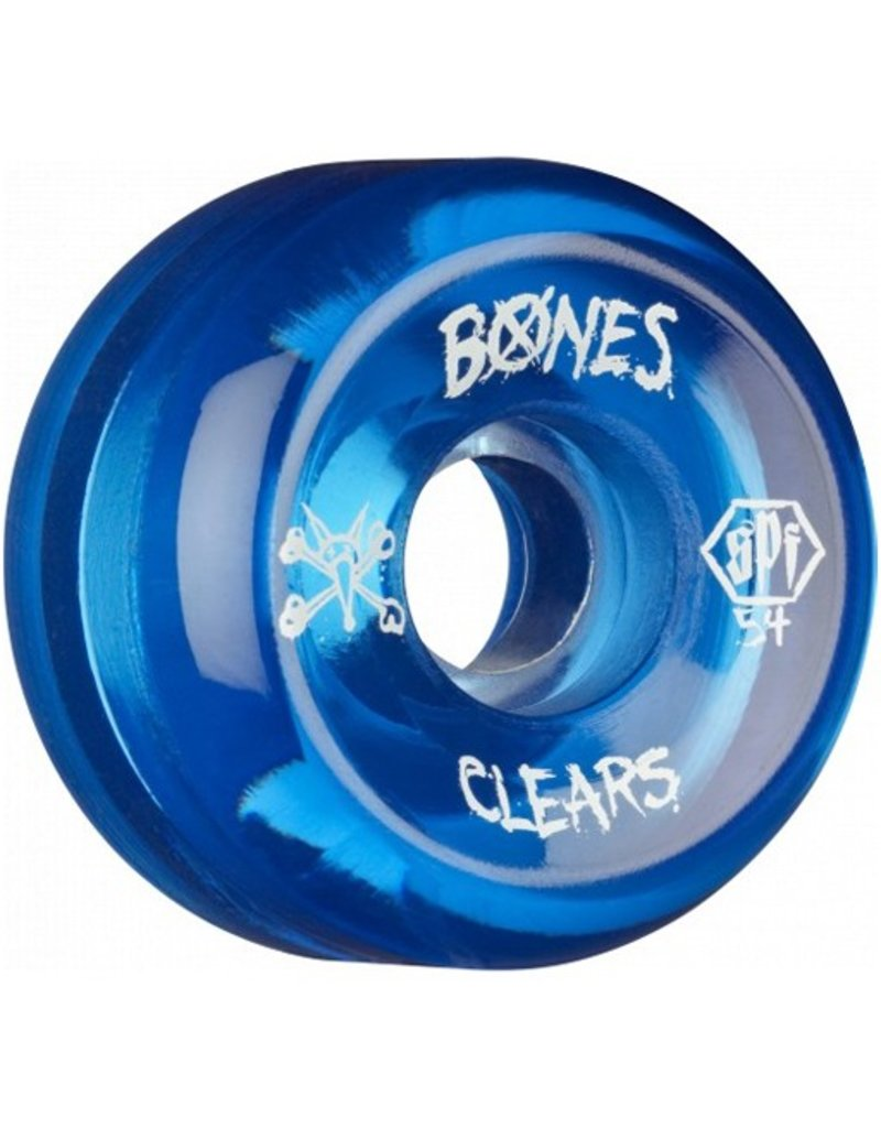 Bones Bones- Skatepark Formula- 54mm- Clear Blue- Wheels