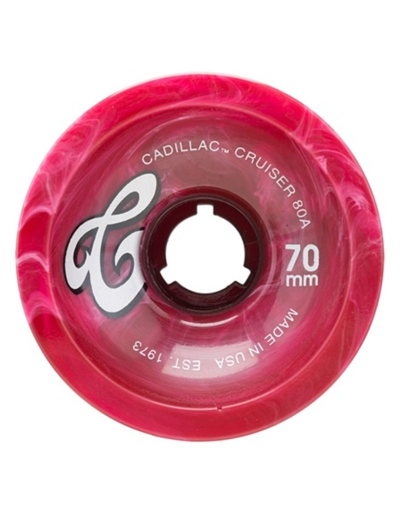 Cadillac Cadillac- Cruisers- 70mm- 80a- Maroon Marble- Wheels