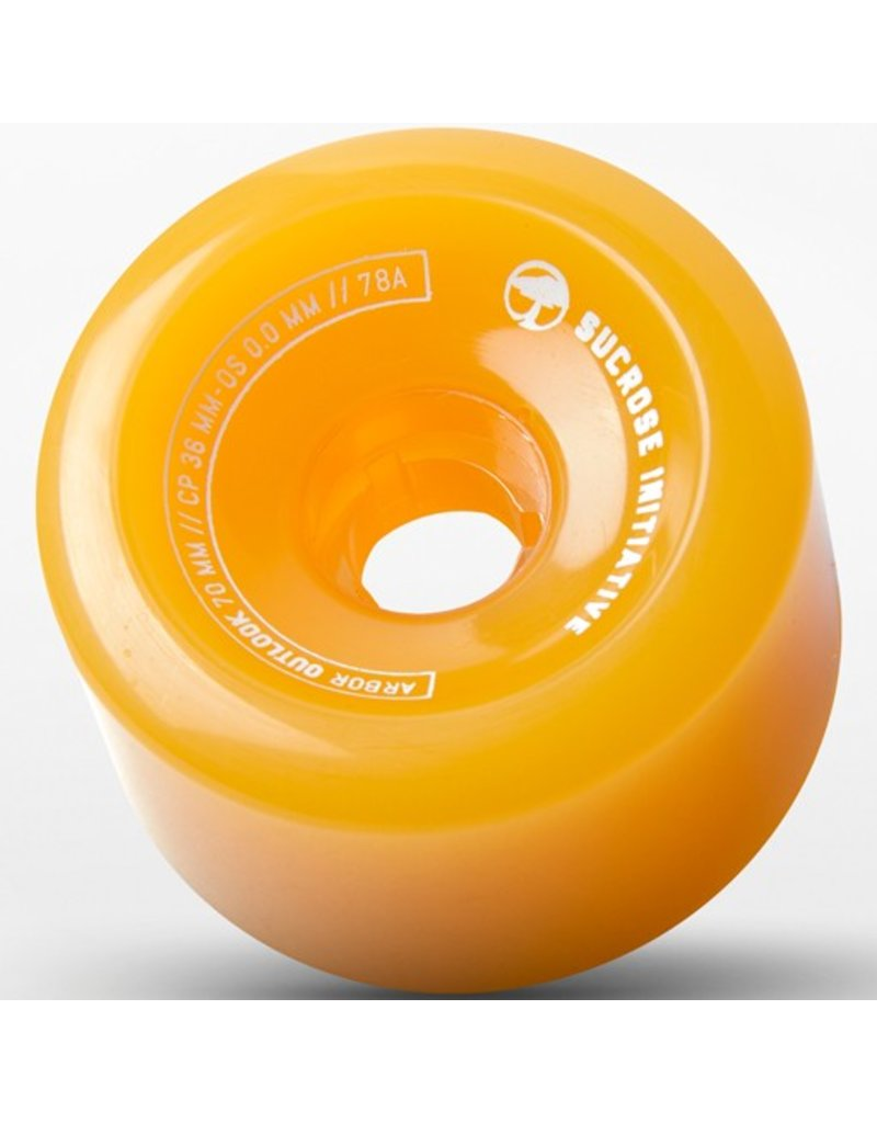 Arbor Arbor- Outlook Fusion- 70mm- 78a- Ghost Yellow- Wheels