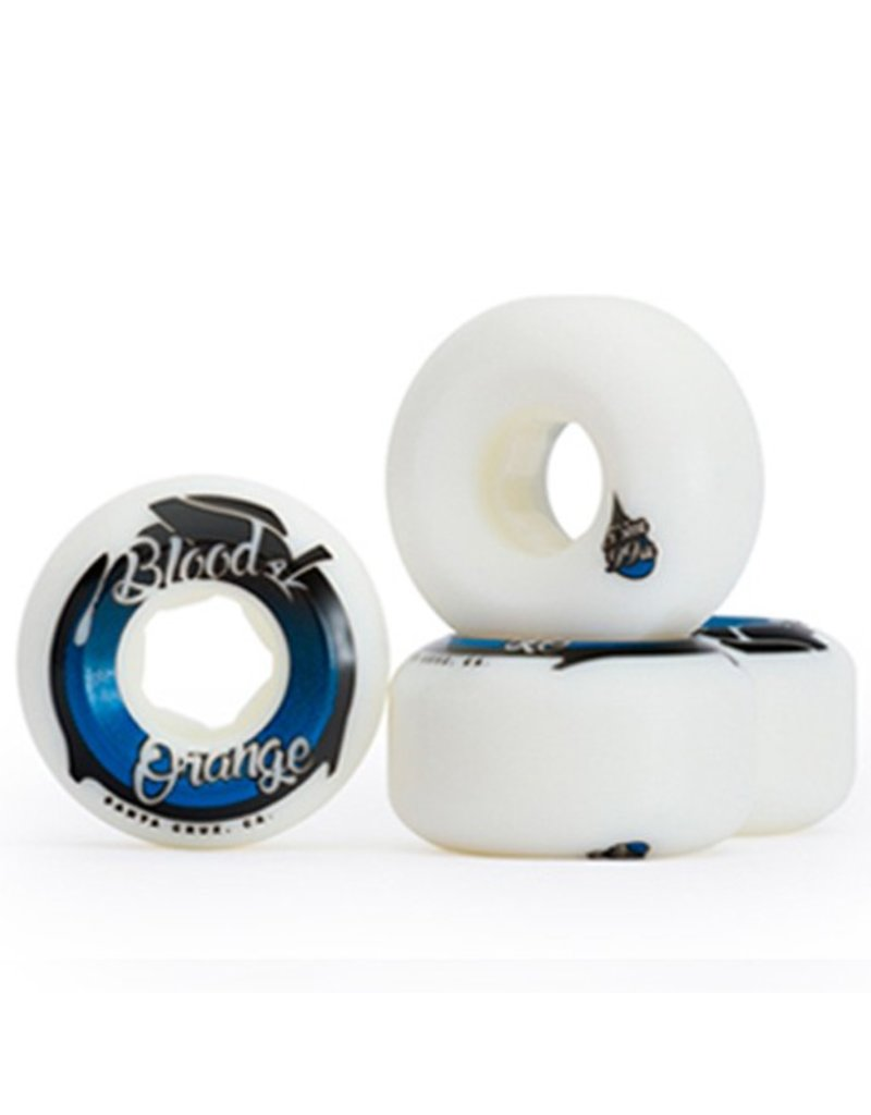 Blood Orange Blood Orange- Street Conical- 53mm- 99a- White/Blue- Wheels