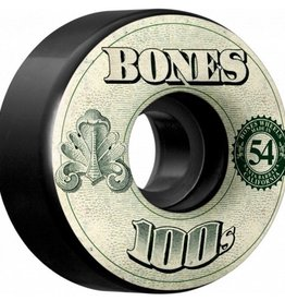 Bones Bones- 100's- Original Formula- 54mm- 100a- V4- Black- Wheels