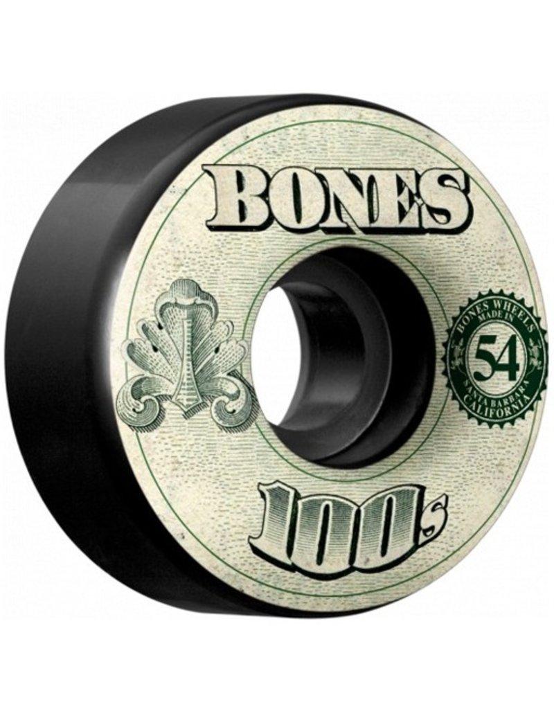 Bones Bones- 100's- Original Formula- 54mm- 100a- V4- Black- Wheels