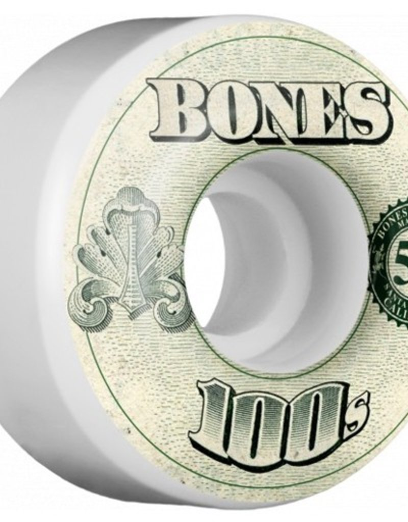 Bones Bones- 100's- Original Formula- 53mm- 100a- V4- White- Wheels